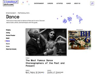 dance.about.com screenshot