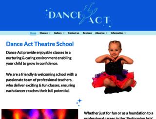 danceact.co.uk screenshot