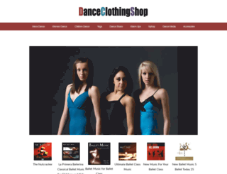danceclothingshop.com screenshot