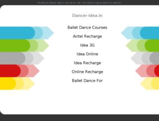 dancer-idea.in screenshot