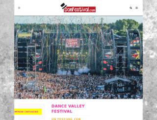 dancevalley.donfestival.com screenshot