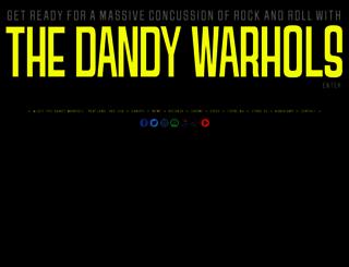 dandywarhols.com screenshot