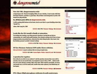 dangerousmeta.com screenshot