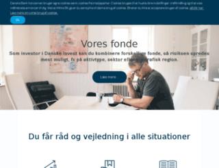 danskeinvest.dk screenshot