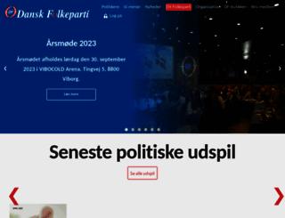 danskfolkeparti.dk screenshot