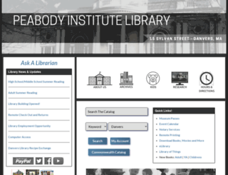 danverslibrary.org screenshot