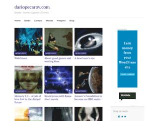 dariopecarov.com screenshot