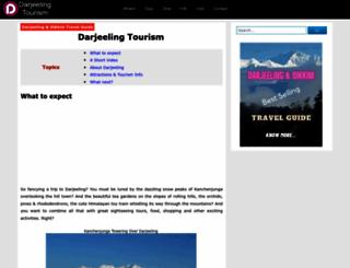 darjeeling-tourism.com screenshot