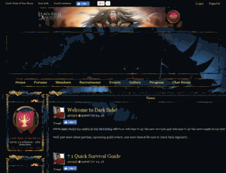 darksidemoon.enjin.com screenshot