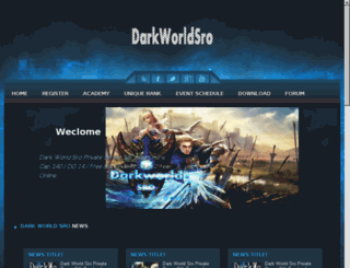 darkworldsro.com screenshot