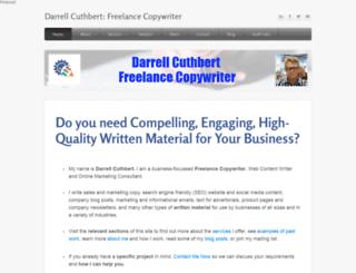 darrellcuthbert.com screenshot
