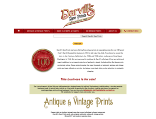 darvillsrareprints.com screenshot