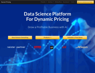 darwinpricing.com screenshot