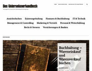 das-unternehmerhandbuch.de screenshot