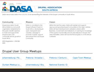 dasa.org.za screenshot