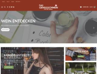 dasgenussschwein.com screenshot