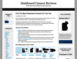 dashboardcamerareviews.com screenshot