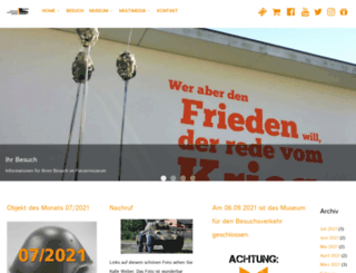 daspanzermuseum.de screenshot