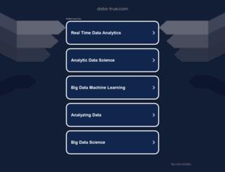 data-true.com screenshot