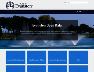 data.cityofevanston.org screenshot