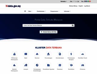 data.gov.my screenshot