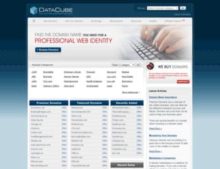 datacube.com screenshot