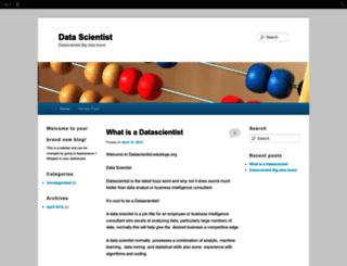 datascientist.edublogs.org screenshot