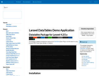 datatables.yajrabox.com screenshot