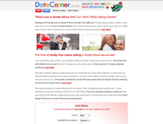 datecorner.co.za screenshot