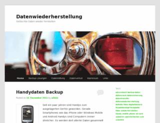 datenwiederherstellung.info screenshot