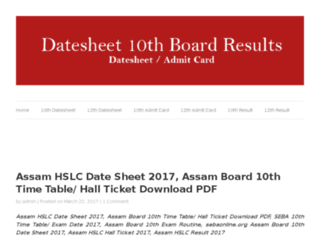 datesheet.10thboardresults.in screenshot