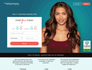 dating.eharmony.com screenshot