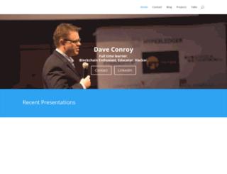 daveconroy.com screenshot