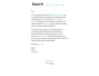davehaeffner.com screenshot