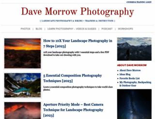 davemorrowphotography.com screenshot