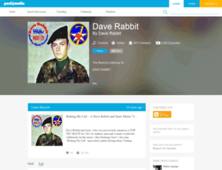 daverabbit.podomatic.com screenshot