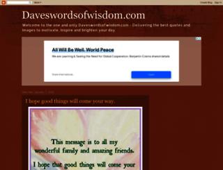daveswordsofwisdom.com screenshot