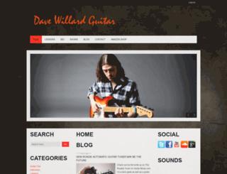 davewillardguitar.com screenshot