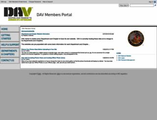 davmembersportal.org screenshot