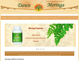 dawnmoringa.com screenshot