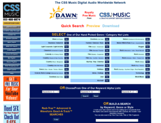 dawnmusic.com screenshot