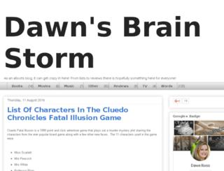dawnsbrainstorm.blogspot.com screenshot