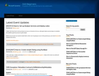 daxbeginners.wordpress.com screenshot