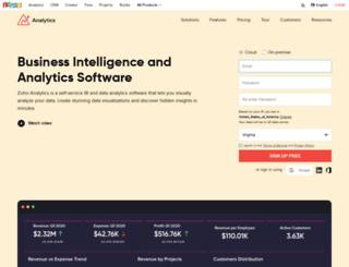 db.zoho.com screenshot