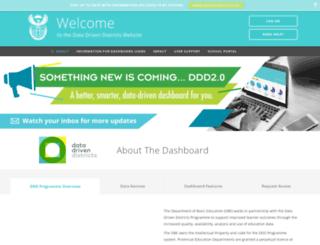 dbedashboard.co.za screenshot