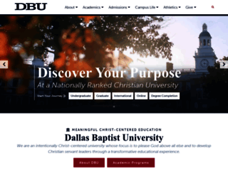 dbu.edu screenshot