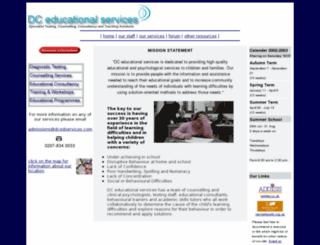 dcedservices.com screenshot