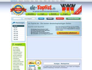 de-toplist.de screenshot