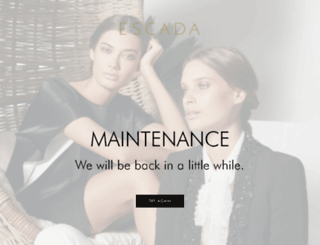 de.escada.com screenshot