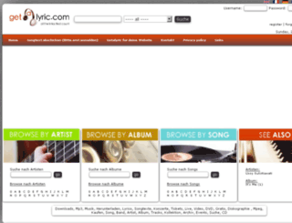 de.getalyric.com screenshot
